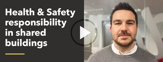Who holds Health & Safety responsibility in shared buildings and communal areas?